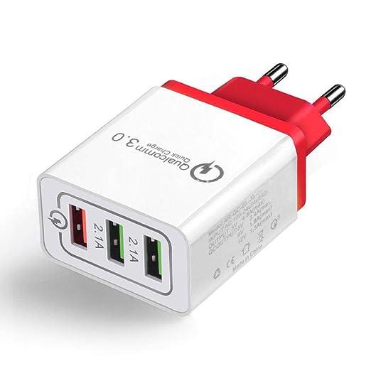 Cooshional Cargador Rápido 3.0 USB 3 Puertos Adaptador de Cargador Quick Charge 3.0 para iPhone Samsung Etc.: Amazon.es: Bricolaje y herramientas