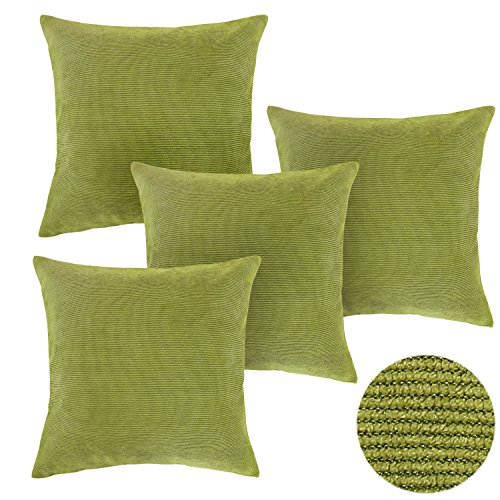 Deconovo Throw Pillow Covers 18 X 18 Inch Corduroy Pillow Cases Covers With  Zipper Throw Pillows For Couch Oasis Set Of 4