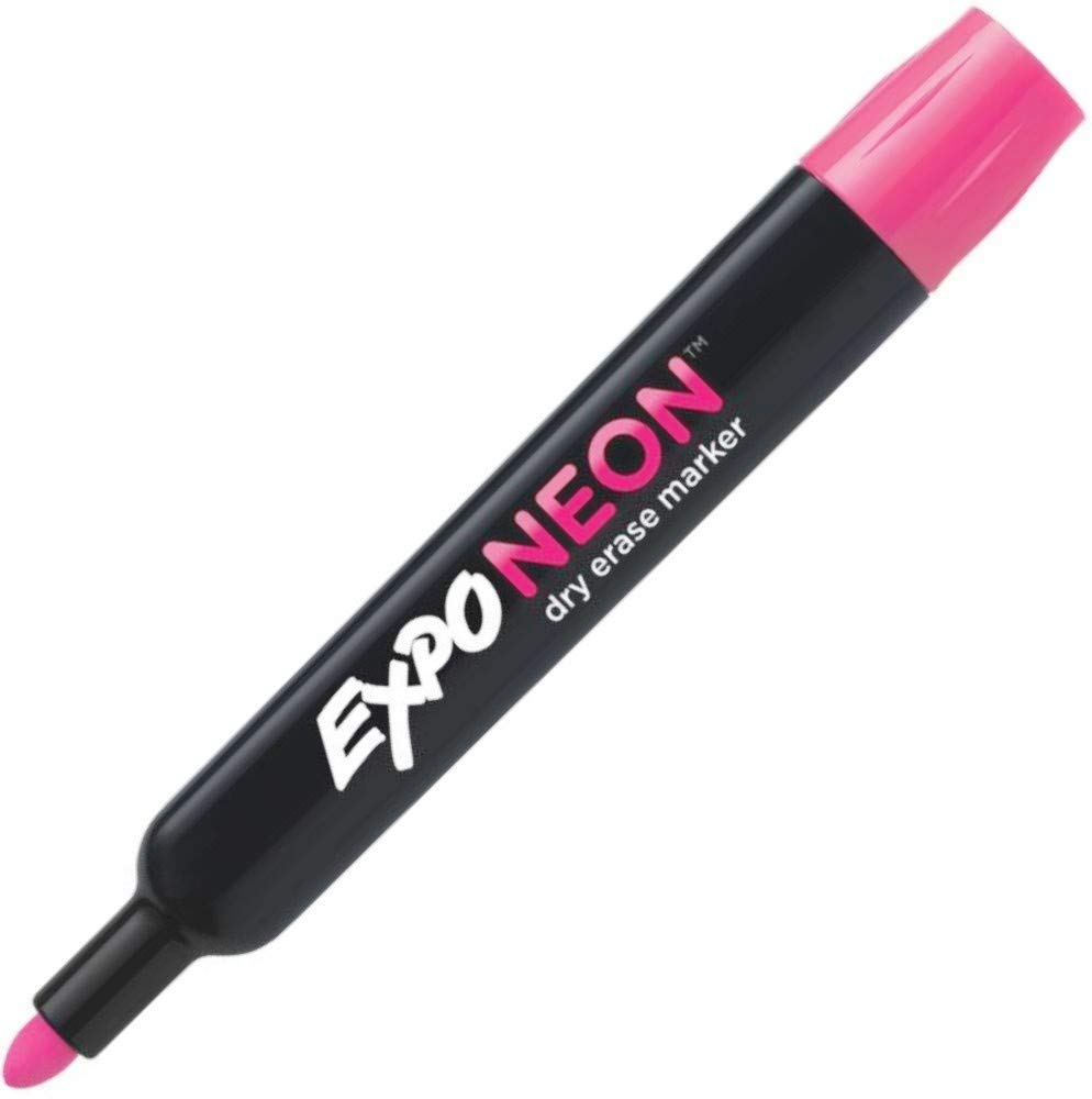 Expo 2012976 Neon Dry Erase Bullet Point Markers; Pack of 12 Markers; For Use On Windows, Mirrors, and Black or White Dry Erase Boards; Pink by Expo (Image #3)