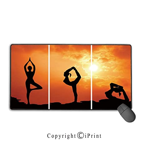 Amazon.com : Stitched Edge Mouse pad, Yoga, Collection of ...
