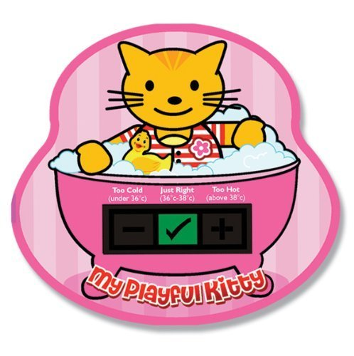 My Playful Kitty Baby Bath Thermometer Card Good Life Innovations