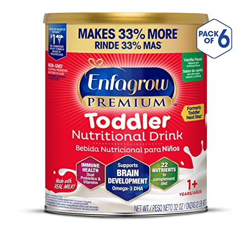 Enfagrow PREMIUM Next Step Toddler Milk Drink Powder, Natural Milk Flavor, 32 Ounce (Pack of 6), Omega 3 (Best Way To Stop Constipation)
