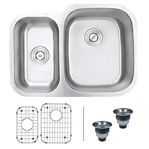 Ruvati RVM4505 Undermount 16 Gauge 29 Kitchen Double Bowl Sink Stainless Steel