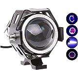 Guance U7 Led Fog Light Bike Driving Drl Fog Light Spotlight, High/Low Beam, Flashing-with Angel Eyes Light Ring (Pack of 1Pcs) Bajaj Pulsar NS200