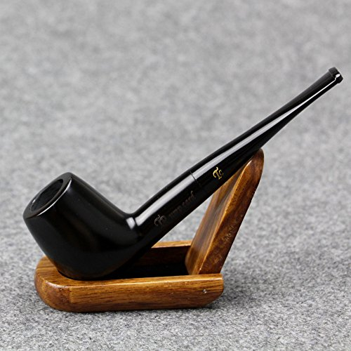 SS-3174 Lobular Ebony Smoking Pipe 9mm Filter Element Tobacco Pipe Tobacco Smoking Pipe Handmade Wooden Durable Tobacco Smoking Pipe