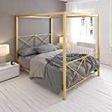 DHP Rosedale Metal 4 Poster Canopy Bed with