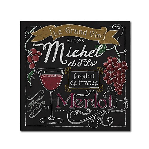 Trademark Fine Art Wine Chalkboard I by Fiona Stokes