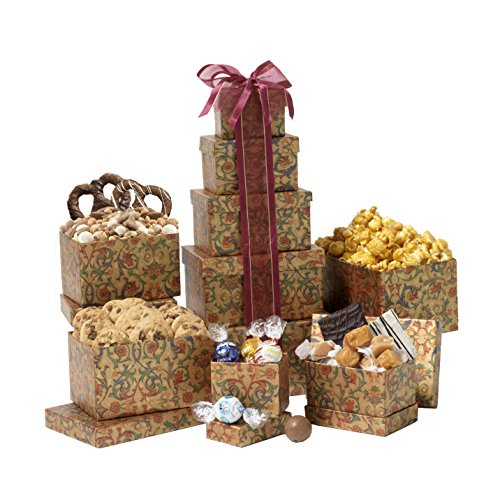 Broadway Basketeers Thinking of You Gift Tower (Chocolate Gift Towers)