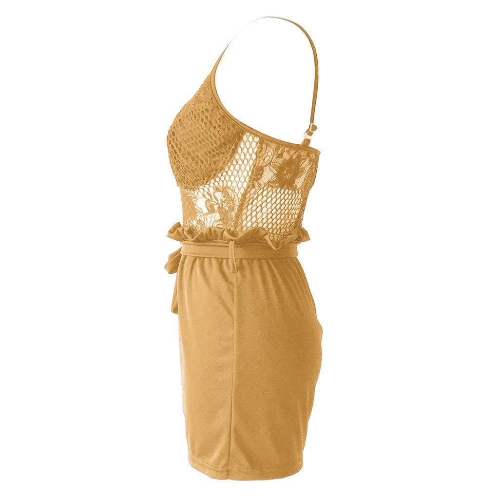 Summer Women Fashion Lace Jumpsuits Vest Tank Top Casual Playsuit Short Pants