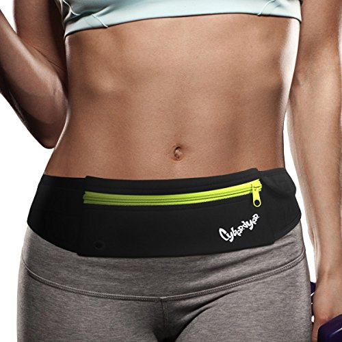 CyberDyer Running Belt Waist Pack - Adjustable Fanny Pouch for Runners for Men and Women