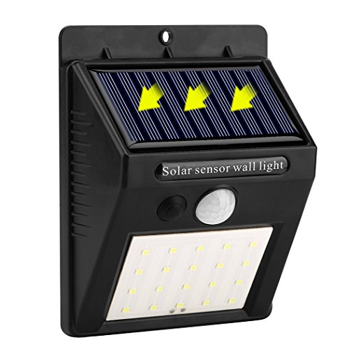 Solar Lights 20 LED Wireless Waterproof Motion Sensor Outdoor Lights with Motion Activated Auto On/Off for Front Door Patio Deck Yard Driveway Garden Garage