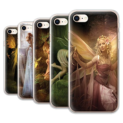Officiel Elena Dudina Coque / Etui Gel TPU pour Apple iPhone 8 / Pack 10pcs Design / Fées Élégantes Collection