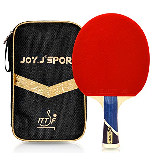 Buy Joy.J Sport Professional 9-Ply Wood Table Tennis Paddle, ITTF Approved Ping Pong Racket with Sto...