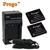 Progo 2 Li-ion Rechargeable Battery and 1 Pocket Rapid Travel Charger with Car Adapter for Select Panasonic Lumix Digital Cameras