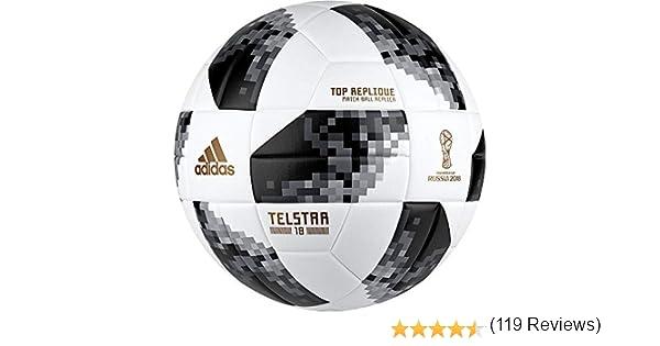 adidas World Cup TOPR Balón, Hombre, (Blanco/Negro/Plamet), 4 ...
