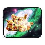 Computer Bag Laptop Case Slim Sleeve Pizza Cat Space Waterproof 13-15 inch