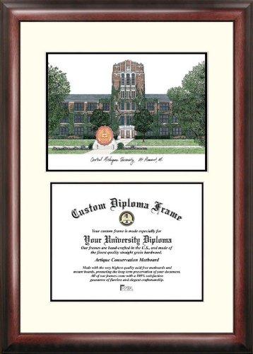 Michigan University Framed Lithograph - Campus Images MI999V Central Michigan University Scholar Diploma Frame, 8.5