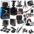 GoPro HERO7 Hero 7 Black Bundle with Free Promotional Car Dash Cam! Includes – Sandisk Ultra 32GB Micro + Hard Case + Card Reader + Chest Strap Mount + Head Strap Mount and More