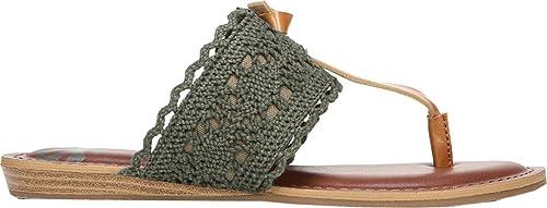 1db4be9e5e2 Fergalicious Women s Stella Thong Sandal Moss Crochet Fabric Size 8.5 M