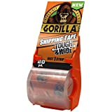 """Gorilla Packing Tape Tough & Wide with Dispenser for Moving, Shipping and Storage, 2.83"""" x 20 yd, Clear, (Pack of 1)"""