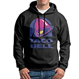 Taco Bell Logo Men's Long Sleeve Pullover Hoodie Sweatshirt Black
