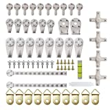 UPSTORE 1Set(64PCS) Durable Hardwall Hanger Non-trace Hook Uses for Hardware Fasteners Seamless Back Door Nail-in Hooks Wall Mount Non-mark Hooks Picture Photo Frame Hangers with Clear Storage Case
