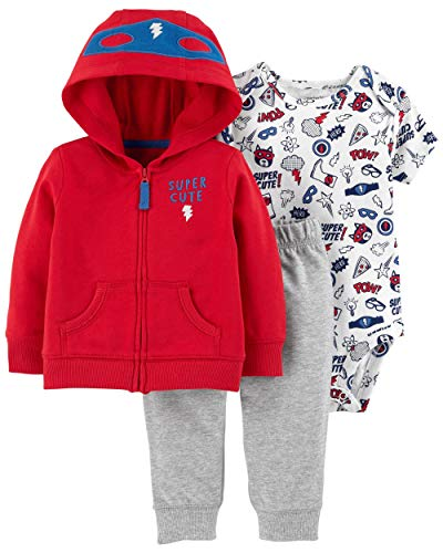 Carter's Baby Boys` 3-Piece Little Jacket Set (9 Months, Super Cute Hero)