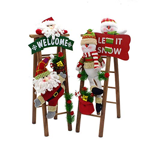 Christmas Santa Claus Climbing On Rope Table Desk Ornaments Home Office Decor ()