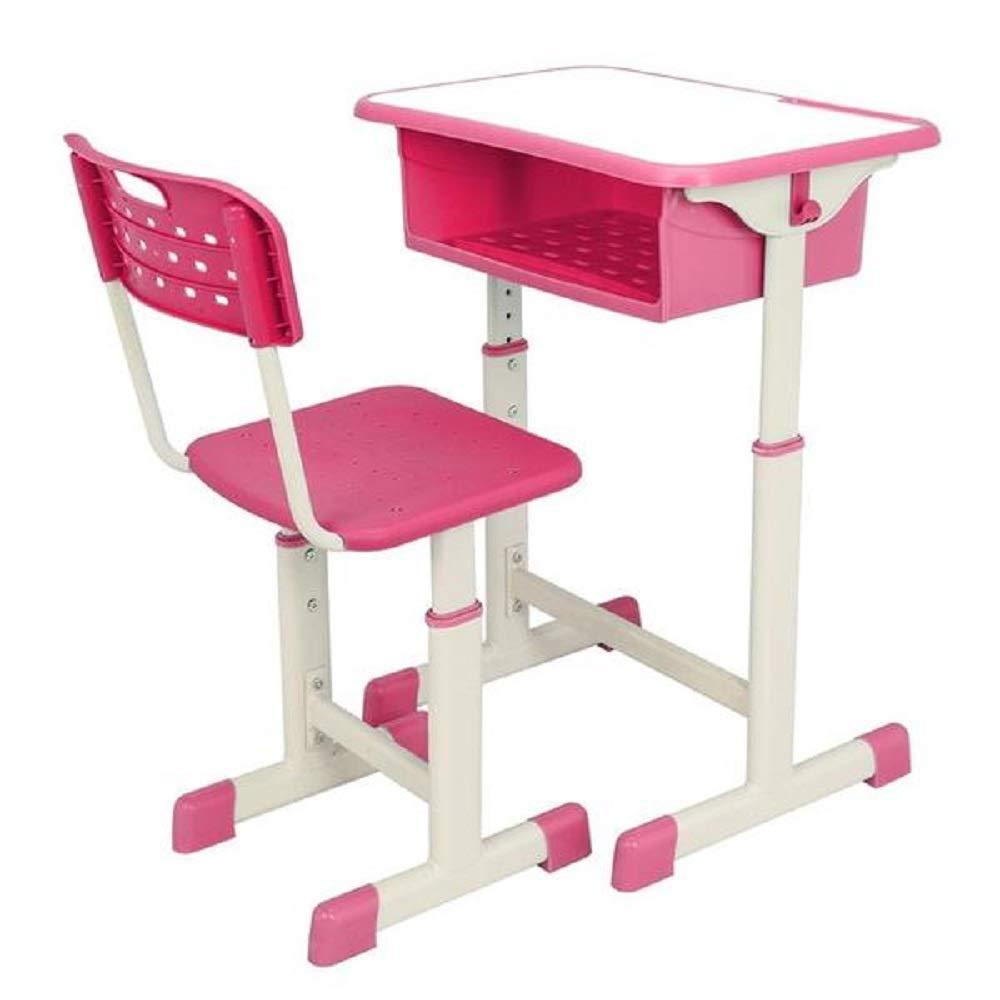 USMW Adjustable Student Desk and Chair Kit Blue/Pink by USMW