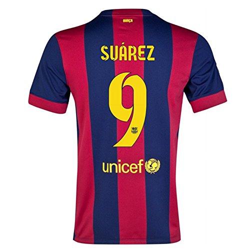 2014-15 Barcelona Home Shirt (Suarez 9) - Kids