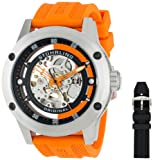 Stuhrling Original Men`s 314R.3316F57Set Leisure Zolara 360 Sport Automatic Skeleton Rubber Strap Set Watch