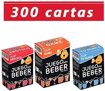 Glop 300 Cartas - Juego para Beber - Juego de Cartas para Fiestas y Tragos: Amazon.es: Juguetes y juegos