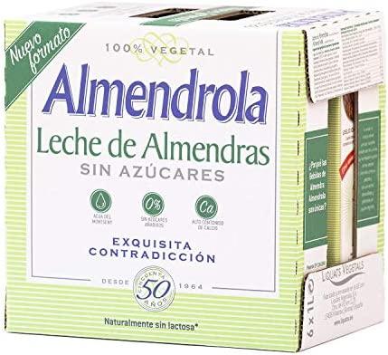 Almendrola - Bebida Vegetal de Almendras Sin Azúcar - Caja de 6 x 1L
