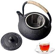 Hwagui Tea Kettle, Japanese Cast Iron Teapot, Tea Pot with Infuser for Loose Tea, Cast Iron Tea Kettle Stoveto