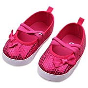 Toddler Prewalkers Sequin Bowknot Sneaker Baby Crib Shoes 3-6 Months