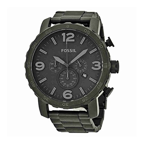 artz Stainless Steel Chronograph Watch, Color: Black (Model: JR1402) ()