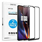 OMOTON 3D Full Coverage Tempered Glass Screen Protector for OnePlus 6T 6.41 inch [2 Pack]