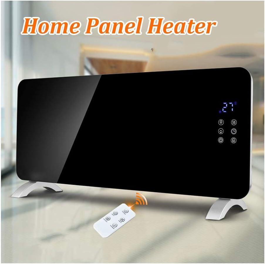 Radiador eléctrico panel calefactor vertical / de pared, panel de cristal templado remoto Ajuste del control inteligente de la temperatura constante, conveniente for el hogar Oficina Calentadores, 935
