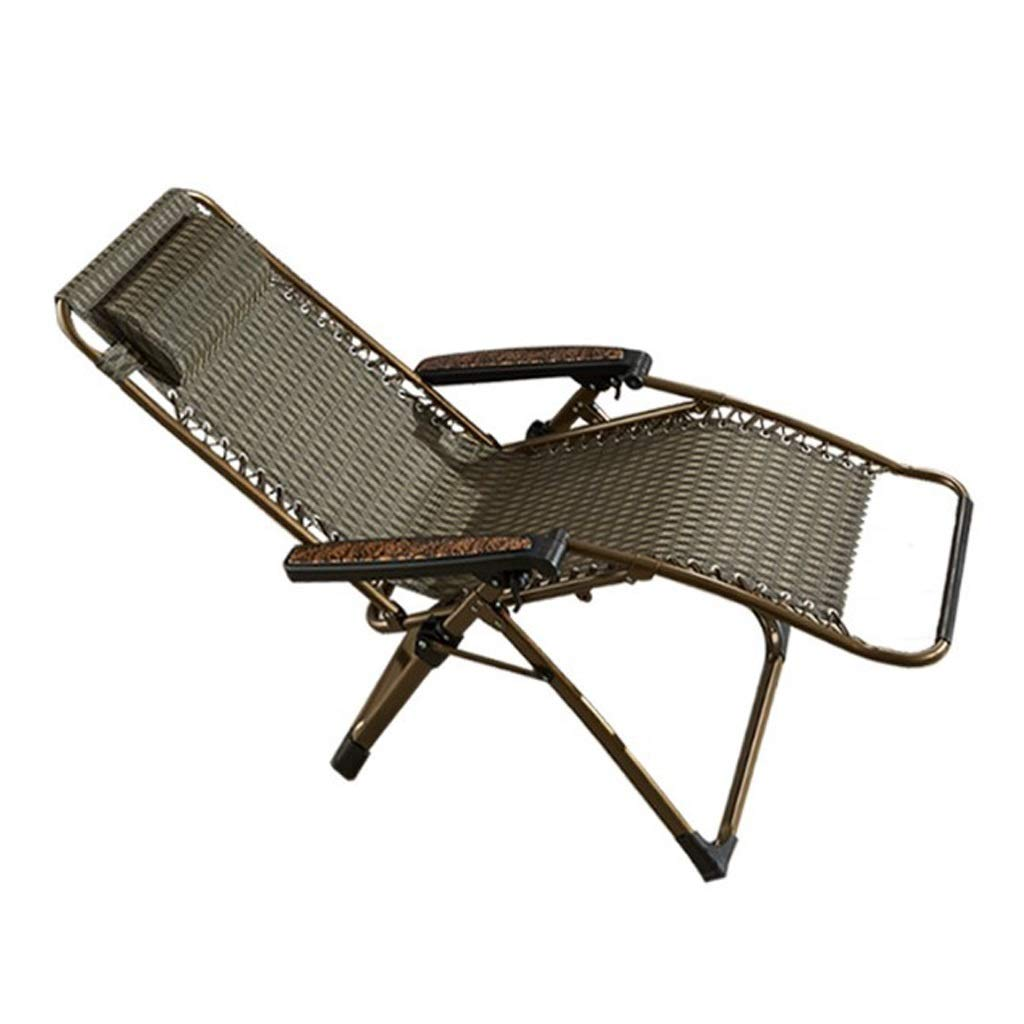 夏のクールチェアPE籐ランチ休憩リクライニングチェアオフィス折りたたみ椅子古い大人の椅子レジャービーチチェアリクライニングチェア A## (Color : A) B07SW93WK3 A