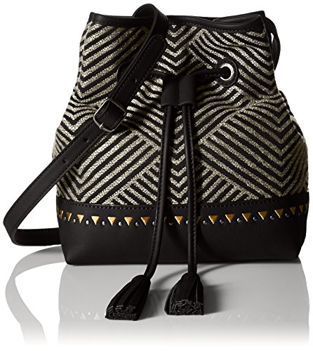 Boho-Chic Vacation & Fall Looks - Standard & Plus Size Styless - Lucky Erin Bucket, Black/Black/Natural