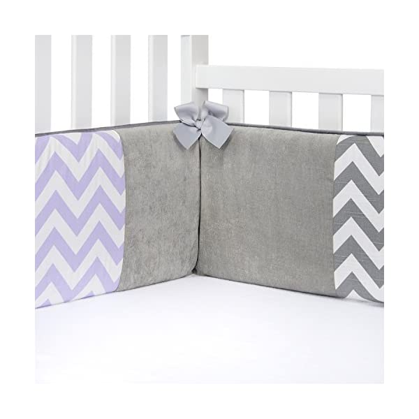 Sweet Potato Swizzle Patched Bumper, Grey/Purple/White