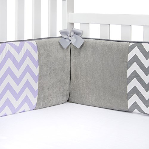 (Sweet Potato Swizzle Patched Bumper, Grey/Purple/White)