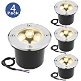 Zuckeo landscape lights 5w 12v 24v led pathway lights waterproof warm white outdoor spotlights walls trees flags flood lights-4 pack