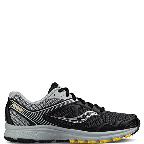 Saucony Men's Cohesion TR10 Trail Runner, Black/Grey/Yellow, 10 M US (Trail Wolverine Runner)