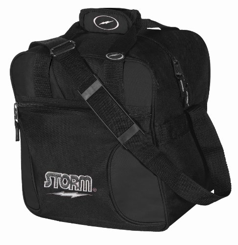 Storm Solo Bowling Bag (1-Ball), Black Storm Shoulder Bag