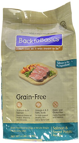 Back To Basics 795205000381 Grain Free Salmon And Sweet Potato Recipe Bag, 4-Pound