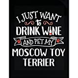 Drink Wine Pet My Moscow Toy Terrier Puppy Dog Lover Gift - Sticker