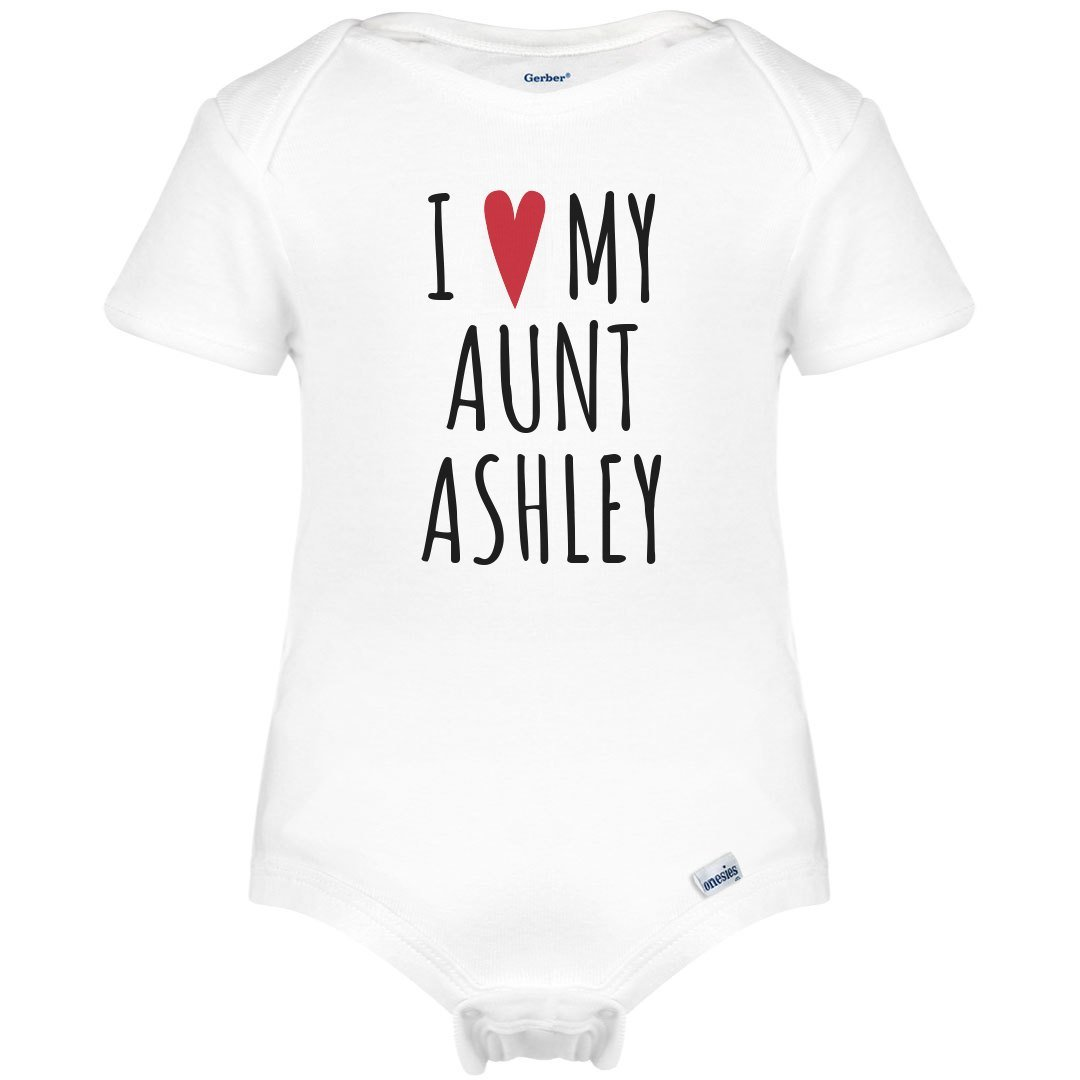 I Heart My Aunt Ashley: Infant Gerber Onesies