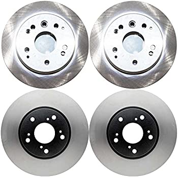 Prime Choice Auto Parts SMK10849703 Front Rear Disc Brake Rotors and Semi Metallic Pads