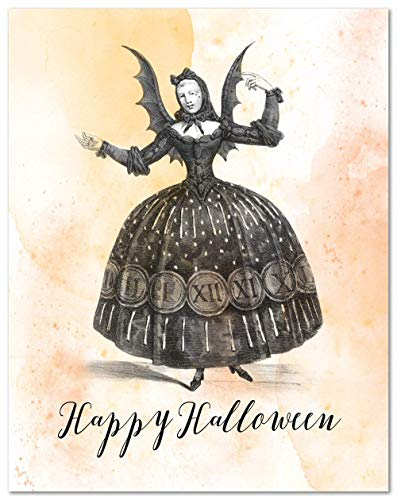 Happy Halloween, 11x14 Unframed Art Print, Gothic Halloween Decor, Great Holiday Party - Halloween Decorations Print
